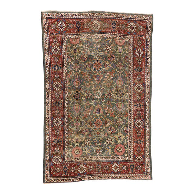 Antique Persian Sultanabad with Modern Design For Sale