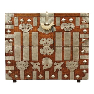 19th Century Antique Korean Chest For Sale