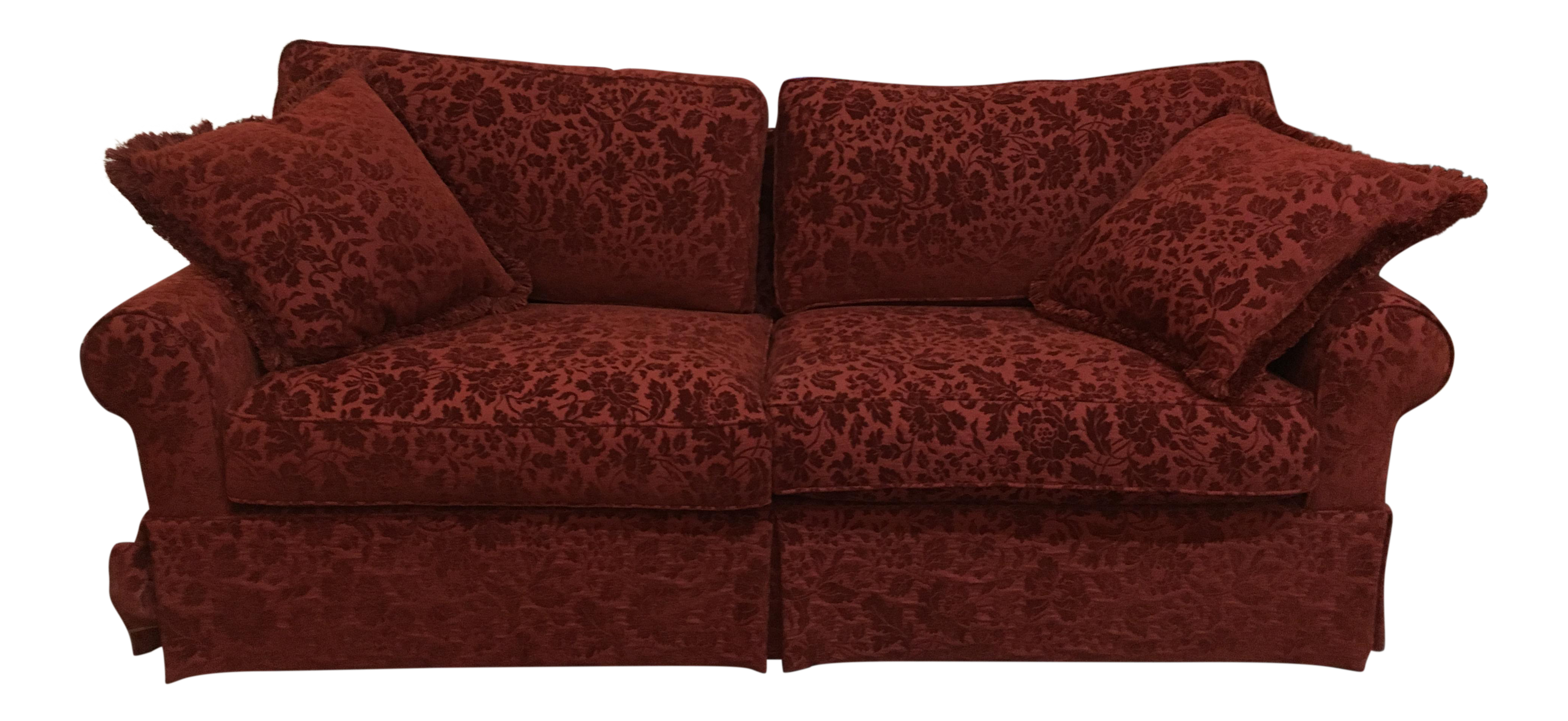 Red Park Manor Floral Sofa
