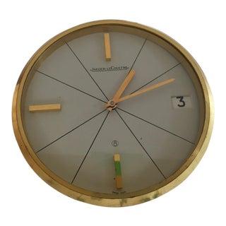 Jaeger-LeCoultre 8-Day Movement & Date Desk Clock For Sale