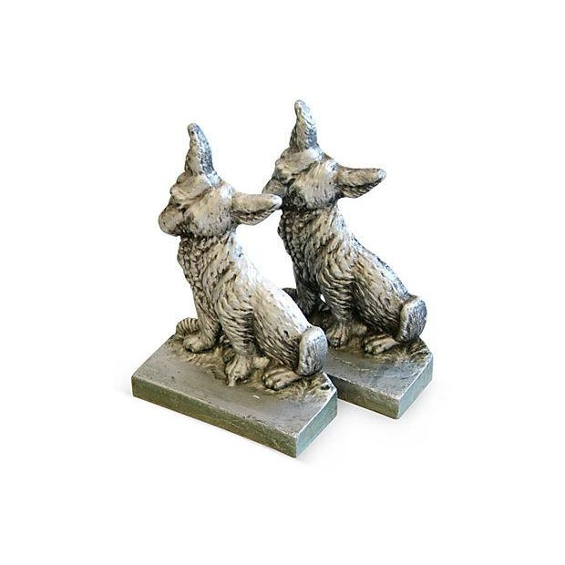 1960s Terrier Dog Bookends- A Pair - Image 3 of 6