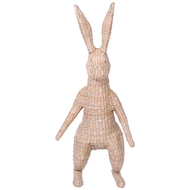 Tan Wicker Mario Torres Rabbit For Sale - Image 8 of 8