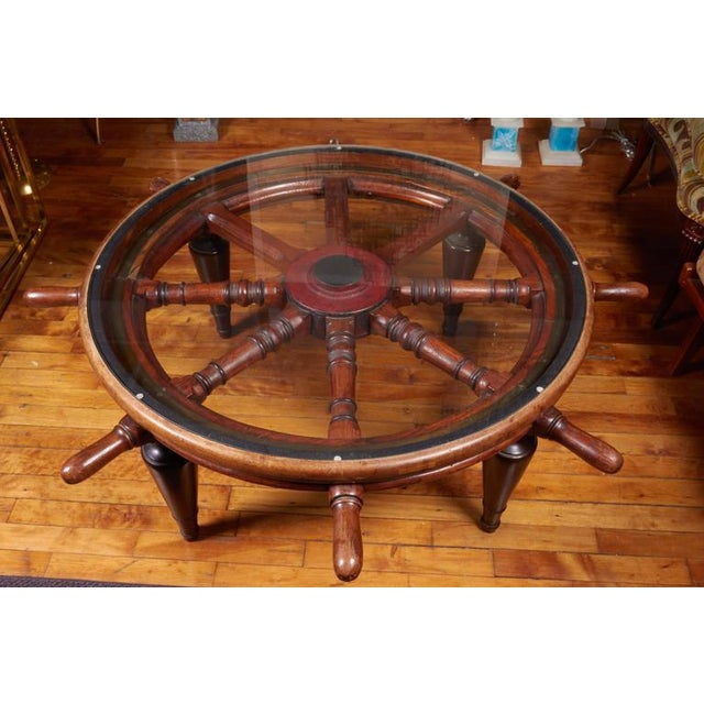 Late 19th Century Antique Ship's Wheel Coffee Table For Sale - Image 5 of 6