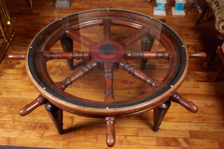Charmant Late 19th Century Antique Shipu0027s Wheel Coffee Table For Sale   Image 5 ...