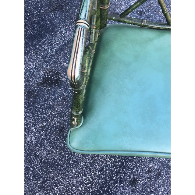 Mid 20th Century Antique Painted Malachite Arm Chair For Sale - Image 5 of 10