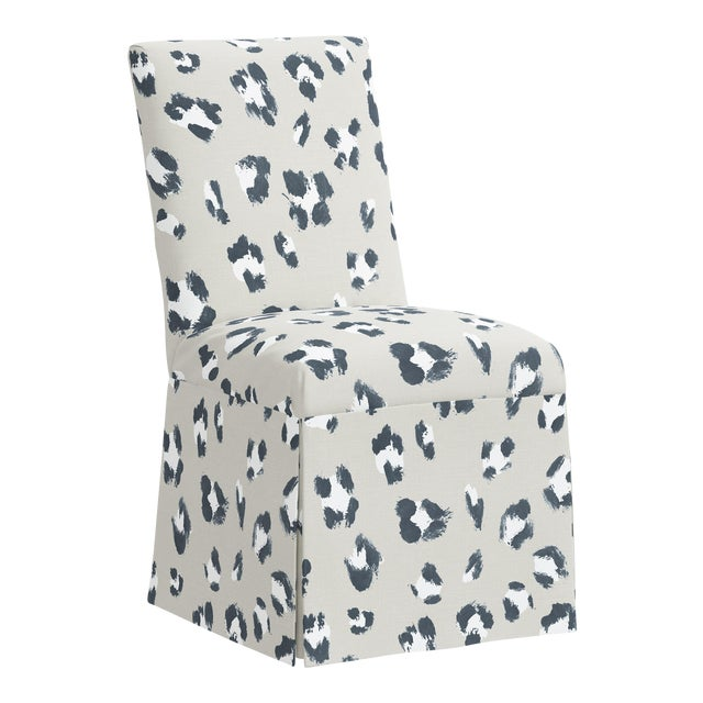 Slipcover Dining Chair in Brush Cheetah Ivory For Sale