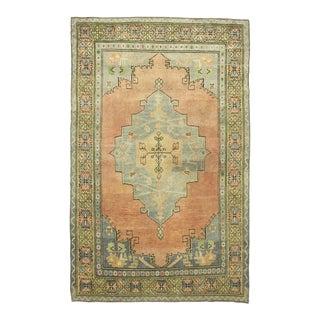 *Naqshi 5x8 Antique Turkish Oushak Style Vintage Area Rug For Sale