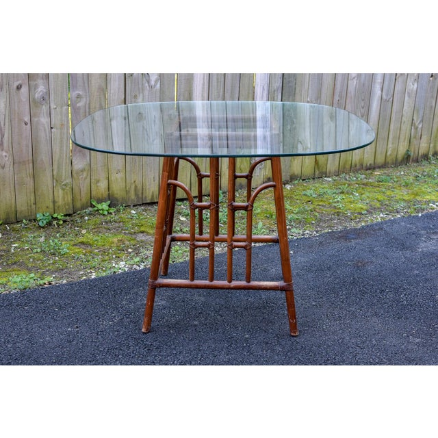 20th Century Chinoiserie Bamboo Base Dining Table For Sale - Image 10 of 10