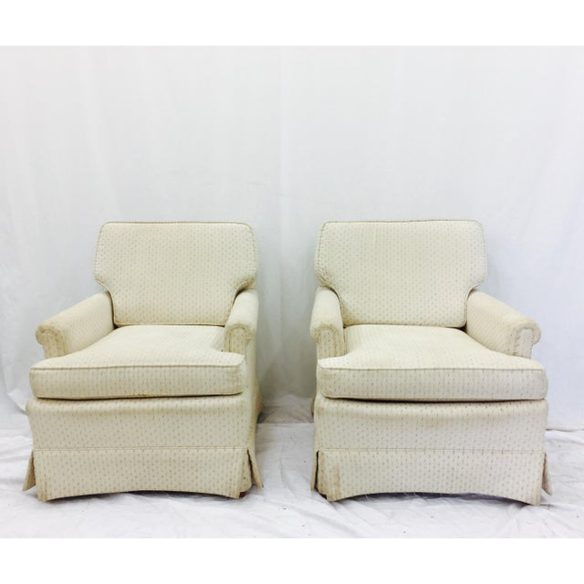 Vintage Henredon Club Chairs - a Pair - Image 6 of 6