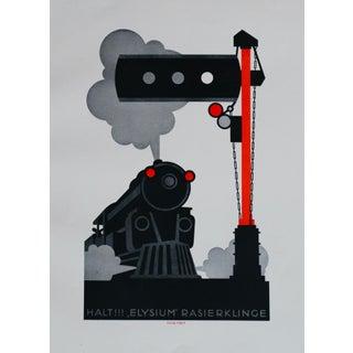 1923 Original German Poster, Elysium Klinger (Train) For Sale