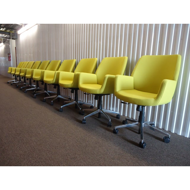 Brian Kane by Coalesse & Steelcase Modern Bindu Yellow Executive Conference Chair For Sale In New York - Image 6 of 13