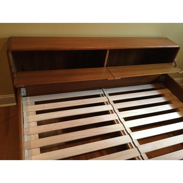 Teak Queen Bed Frame - Image 4 of 11