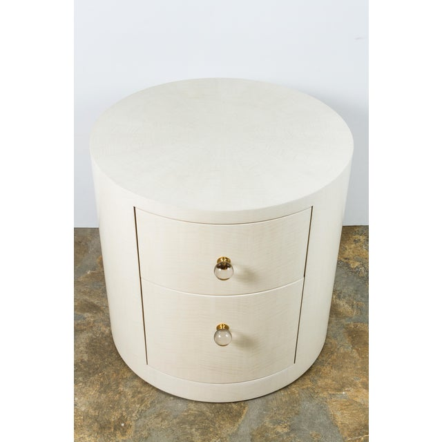 Not Yet Made - Made To Order Italian-Inspired 1970s Style Round Nightstand For Sale - Image 5 of 8