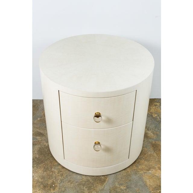 Italian-Inspired 1970s Style Round Nightstand - Image 5 of 8