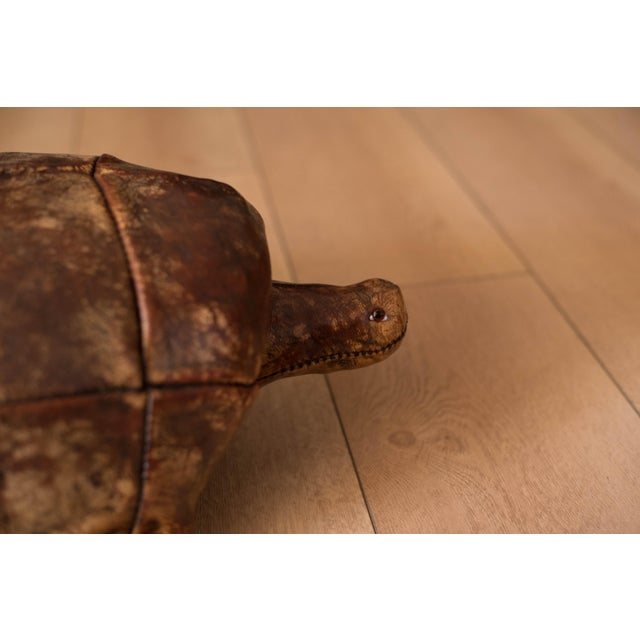 Abercrombie & Fitch Vintage Abercrombie and Fitch Leather Turtle Footstool by Dimitri Omersa For Sale - Image 4 of 8