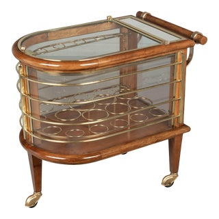 French Art Deco Style Bar Cart, or Cocktail Trolley For Sale