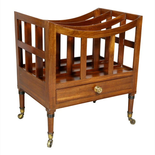 Regency Style Mahogany Canterbury For Sale - Image 9 of 9