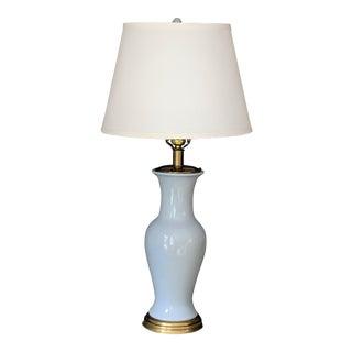 Vintage Tyndale Ginger Jar Lamp in Robins Egg Blue For Sale