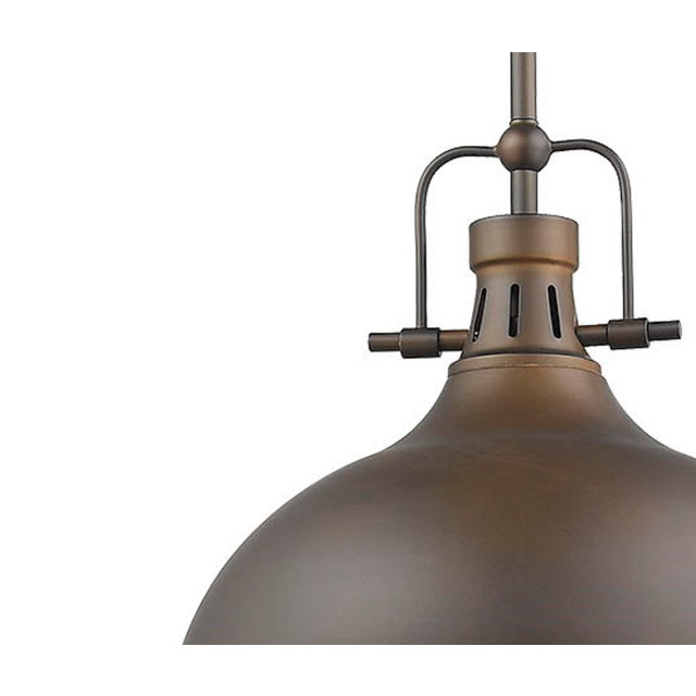 Beautiful finishing details update this classic silhouette. Takes 100W bulb.