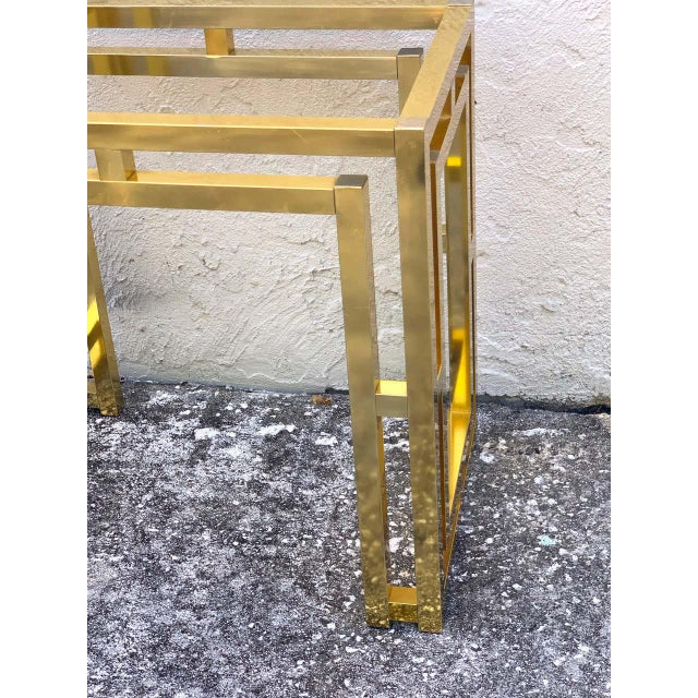Mid 20th Century Milo Baughman Style Brass Table Base For Sale - Image 5 of 12