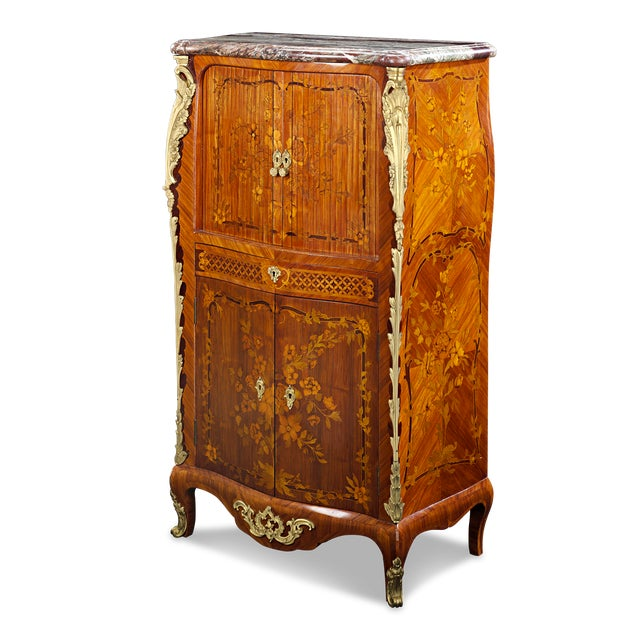 Louis XV Jean-René Nadal L'Ainé Tambour-Front Secretaire For Sale - Image 3 of 6