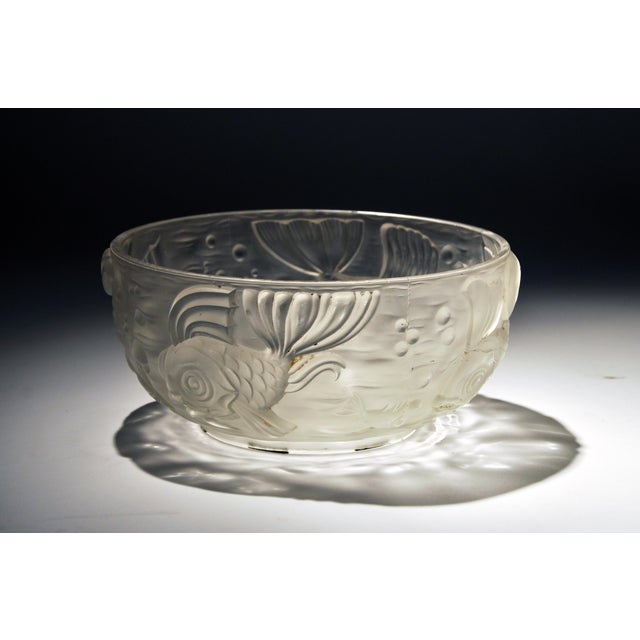 Molded and Frosted Glass Bowl - Image 4 of 6
