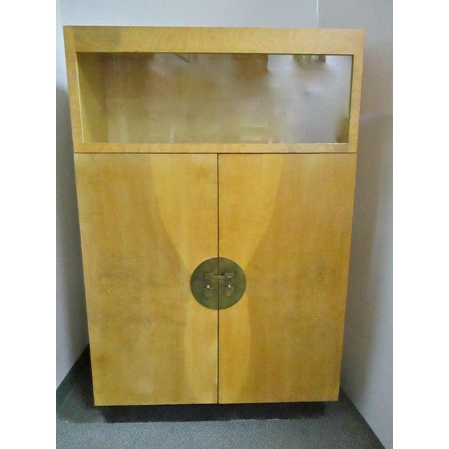 Burlwood Bar Liquor Cabinet - Image 2 of 5