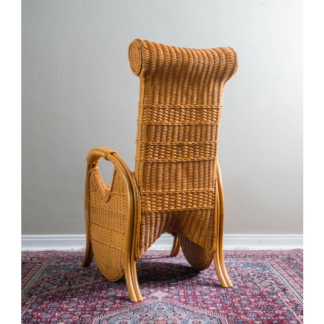 Vintage Wicker & Rattan Chair - Image 5 of 6