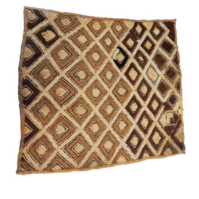 Natural Fiber African Kuba Kasai Velvet Raffia Textile Zaire For Sale - Image 7 of 10
