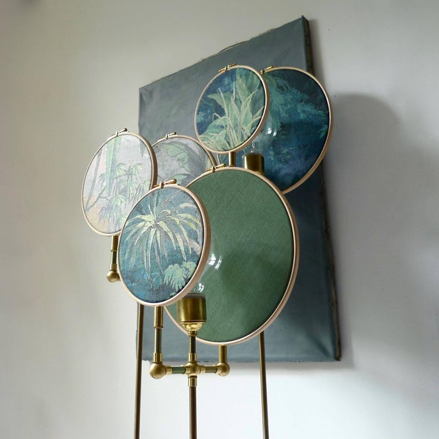 Circle Blue Grey, Floor Lamp by Sander Bottinga For Sale - Image 6 of 8