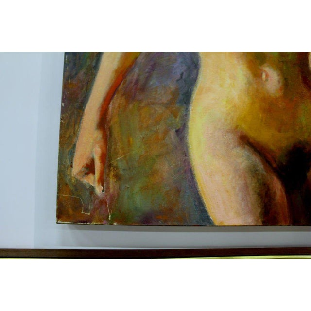 Nude Oil Painting on Canvas Signed Mautner For Sale - Image 4 of 7