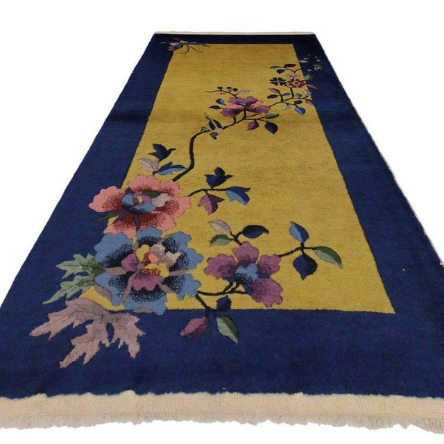20th Century Chinese Art Deco Style Accent Rug - 2′5″ × 4′9″ For Sale - Image 4 of 5