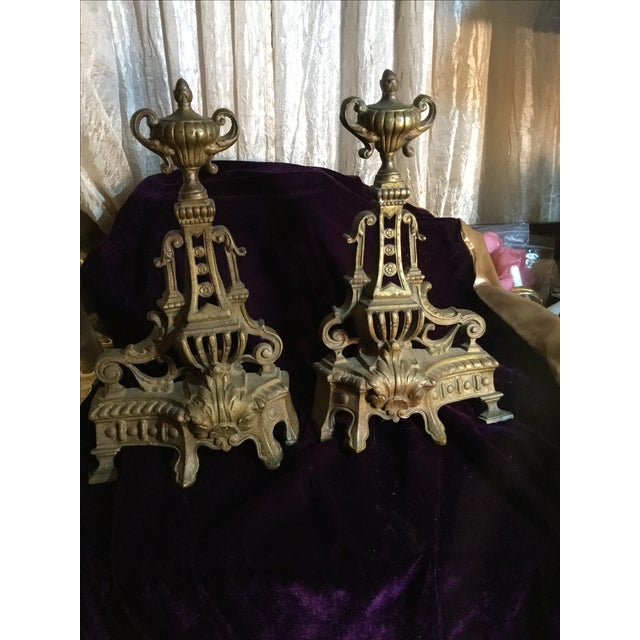 Antique Andiron Set - Image 3 of 5