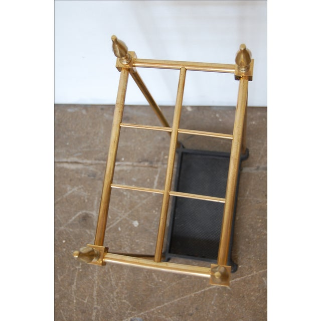 French Brass & Iron Umbrella Stand - Image 6 of 9
