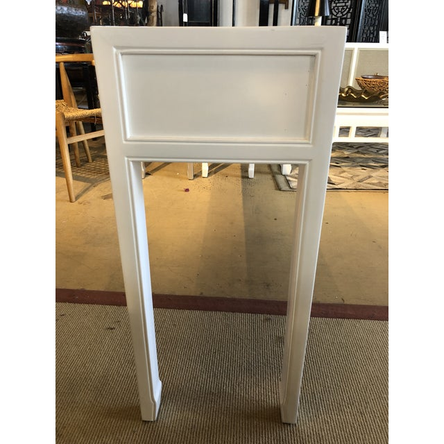Asian Modern White Lacquer 5-Drawer Console Table For Sale In West Palm - Image 6 of 9