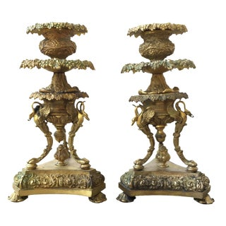 19th C. French Candlesticks - A Pair For Sale