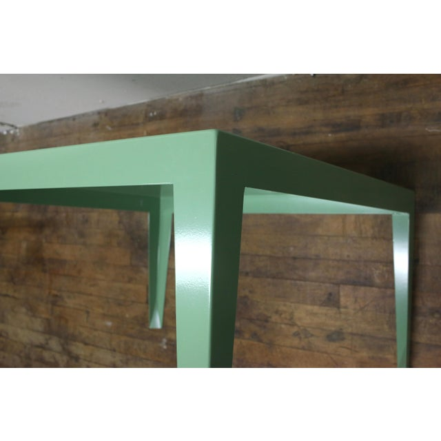 Mint 1950s Mint Green Mid-Century Powder Coated Steel Coffee Table For Sale - Image 8 of 13