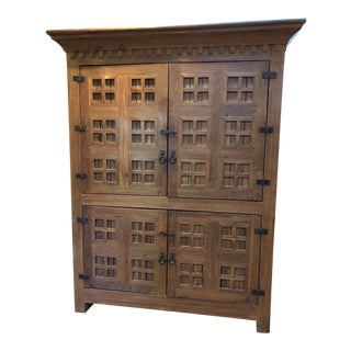 Mid 20th Century Vintage Mesquite Armoire For Sale