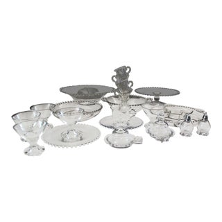Vintage Imperial Candlewick Glass Party Set For Sale