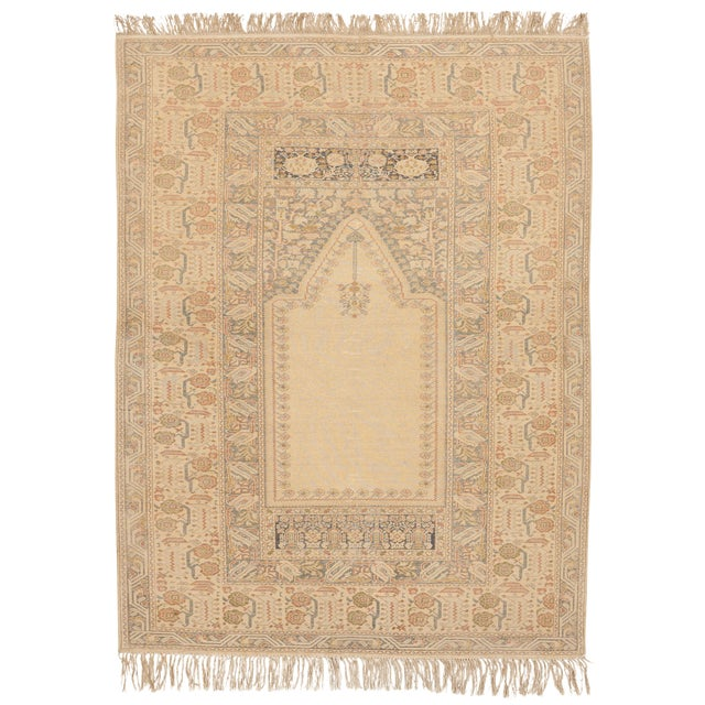 """Antique Turkish Kaisary Rug - 4'6"""" x 6' For Sale"""