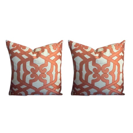 "Kravet Couture ""Modern Elegance"" Pillows - a Pair - Image 1 of 5"