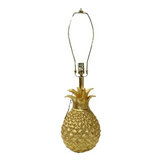 Contemporary Unused Gold Pineapple Couture Lamp For Sale