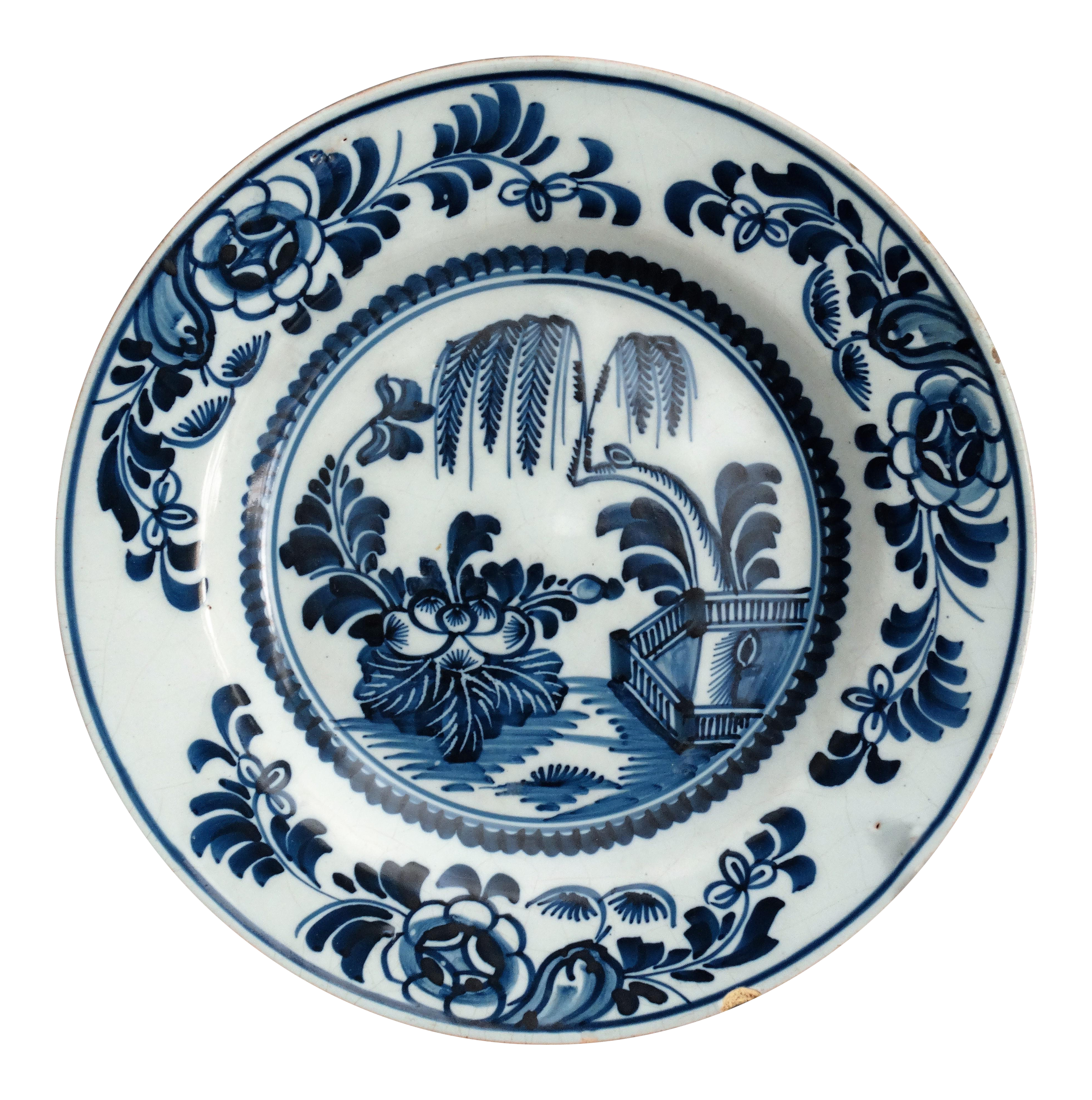 18th-Century Antique Delft Chinoiserie Plate  sc 1 st  Chairish & 18th-Century Antique Delft Chinoiserie Plate | Chairish