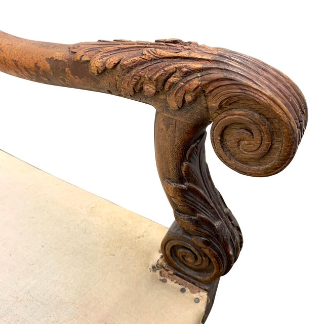 Wood Louis XIV Settee For Sale - Image 7 of 11