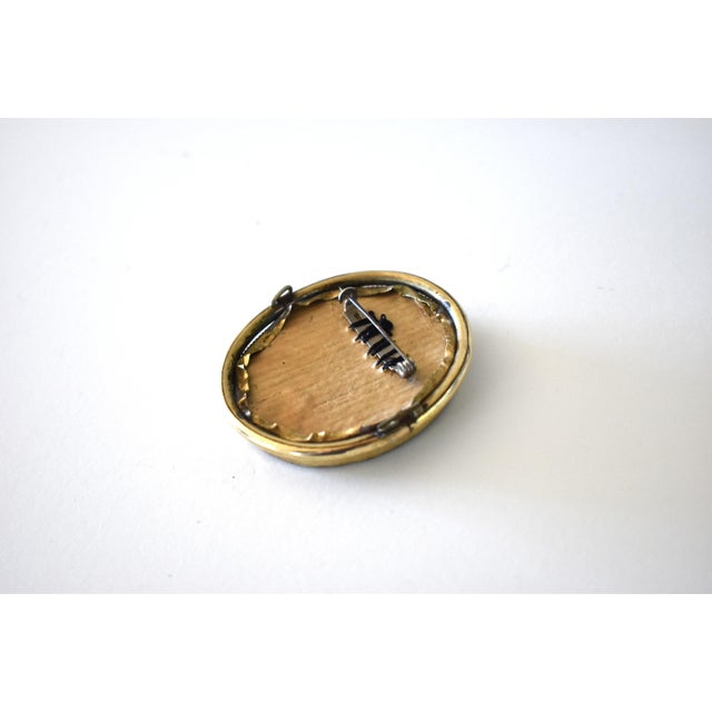 Contemporary Lover's Eye Painting by S. Carson in a Victorian Brooch For Sale In San Francisco - Image 6 of 9