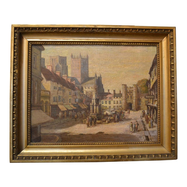 Antique 19th Century English Oil on Canvas For Sale