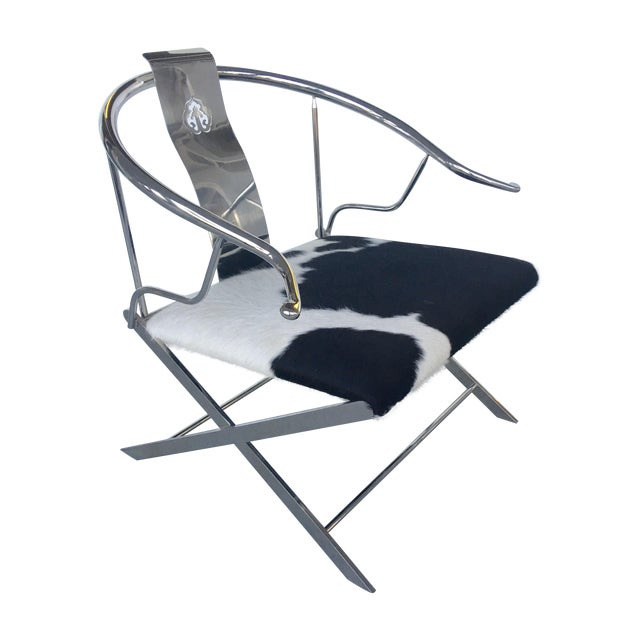 Stainless Steel Modernist Lounge Chair - Image 1 of 7