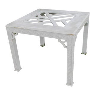 Chinese Chippendale Fret Work Game Table Dining