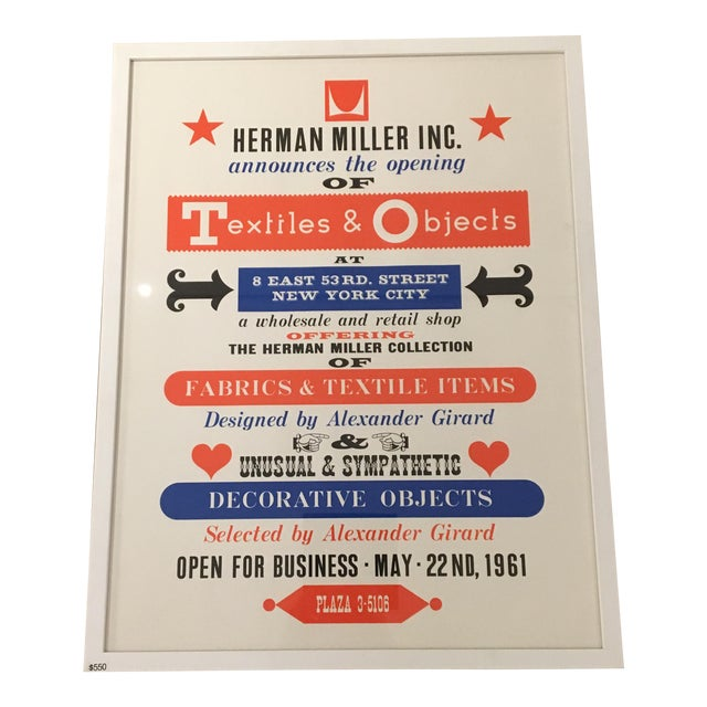 Herman Miller Textiles & Objects Print For Sale
