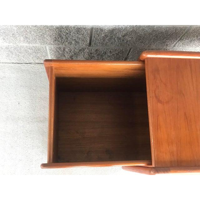 Brown Danish Modern Wood File Cart For Sale - Image 8 of 9